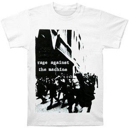 Rage Against The Machine - Riot Slim Fit T-Shirt (Small) Bianco