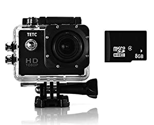 DBPOWER Waterproof Action Camera 12MP 1080P HD with 2 Batteries and Free Accessories Kit