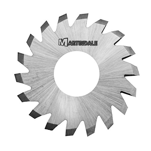 """Martindale Hsmsv4240 High Speed Steel High Speed Steel Undercutting V-Cutters, 1/2"""" Outer Diameter, 1/8"""" Hole Diameter, 0.045"""" Thick, 12 Teeth"""