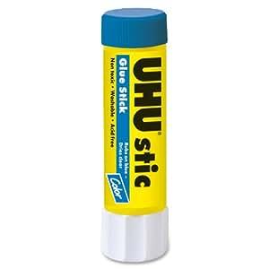 Saunders UHU Glue Stick, 0.29 oz., Purple (99601)