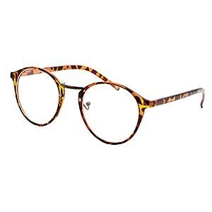 PanDaDa Women's Plastic Eyewear Frame Clear Lens Eyeglasses Leopard
