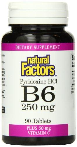 Natural Factors Vitamin B6 Pyridoxine Hcl 250Mg Tablets, 90-Count