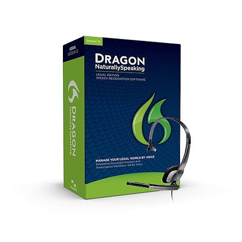 Nuance Dragon Naturallyspeaking Legal Version 12 Speech Recognition Software With Microphone