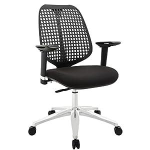 LexMod Reverb Adjustable Armrests Office Chair, Black