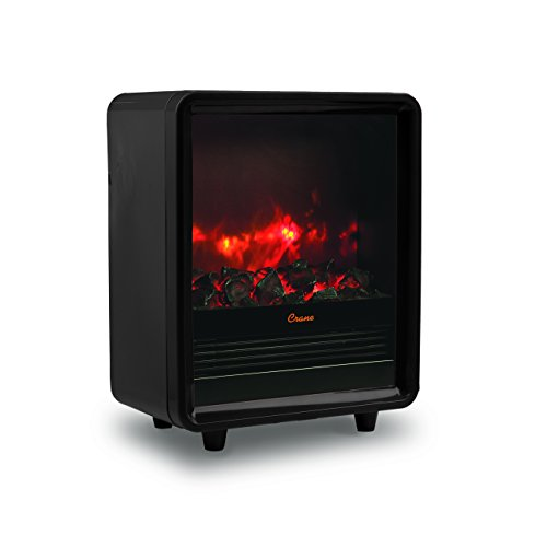 Crane USA EE-8075BK Crane Fireplace Space Heater, Black (Space Heaters Fireplace compare prices)
