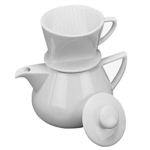 Coffee Maker - Drip with Pot, White Porcelain 19oz.