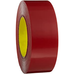 3m outdoor masking poly tape 5903 red 48 mm x 54 8 m pack of 1 industrial for Exterior masking tape