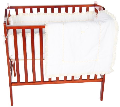 Baby Doll Unique Port-a-Crib Bedding Set, Ecru