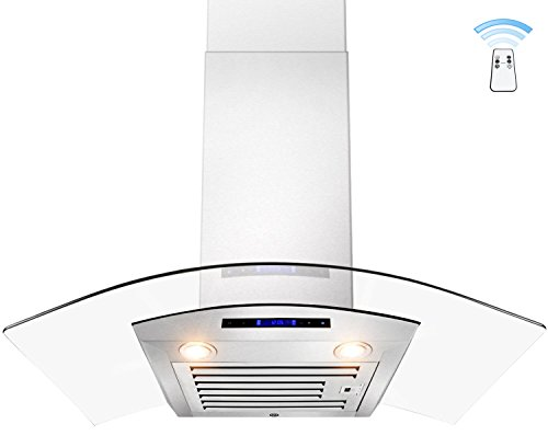 "Akdy 30"" Euro Style Wall Mount Stainless Steel Range Hood Kitchen Stove Vent With Remote Az-D01-30R"