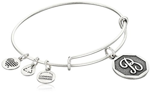 Alex and Ani Initial Expandable Wire Bangle Bracelet, 2.5″