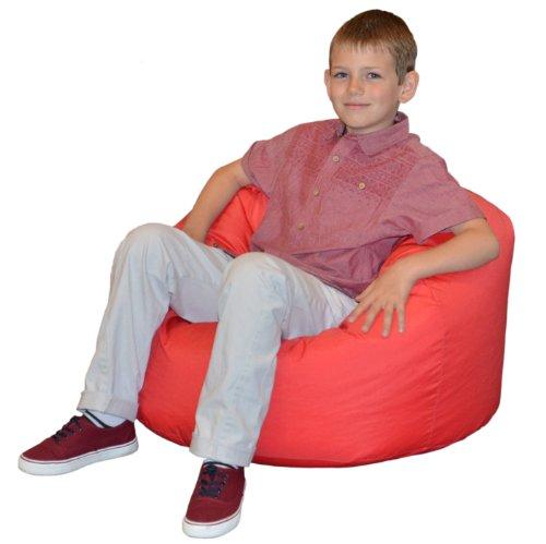 Gilda® Kinder Sitzsack ROT Wasser & schmutzabweisend gefüllt mit Polystyrol Bohnen