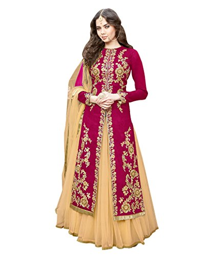 1-Stop-Fashion-Womens-Bhagalpuri-Anarkali-Dress-Material