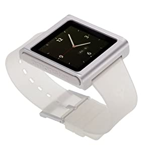nanox - Apple iPod nano watch conversion kit (Silver Case / Clear Strap)