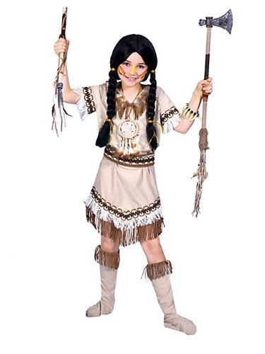 Running Bear Indian Princess Kids Costume