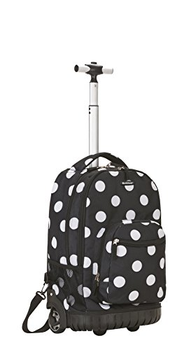 rockland-luggage-19-inch-rolling-backpack-printed-black-dot-medium