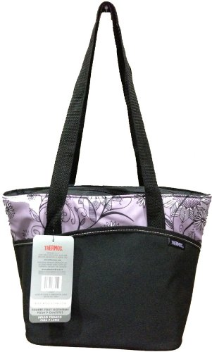 Thermos Insulated 9 Can Tote - Purple Flowers - 1