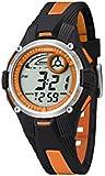 Calypso - K5558/4 - Montre Garçon - Quartz - Digitale - Eclairage-Chronomètre-Temps intermédiaires-Alarme - Bracelet Caoutchouc multicolore