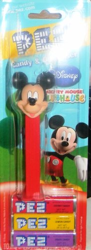 PEZ MICKEY MOUSE CLUBHOUSE EDITION ON BLISTER CARD WITh 3PACK REFILL - 1