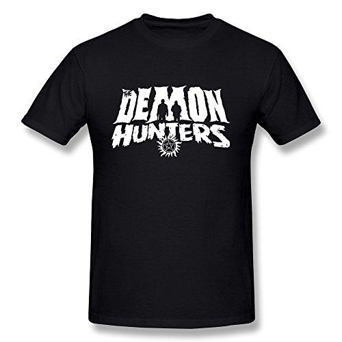Fkyceun Men's Supernatural Demon Hunters Tshirts Medium Black
