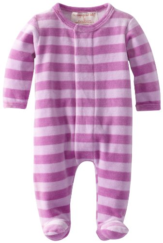 Magnificent Baby Baby-Girls Newborn Lavender Lilac Velour Footie, Lavender/Lilac, 9 Months