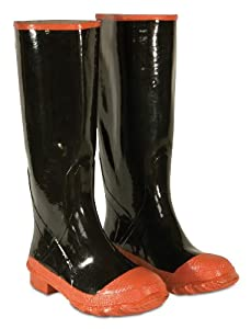 CLC Rain Wear R21016 Red Sole and Toe Rubber Boot, Size 16