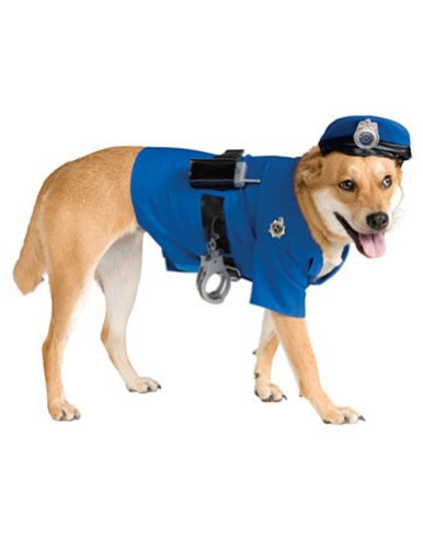 Halloween Costumes Item - Cat & Dog Costume Police Officer Large