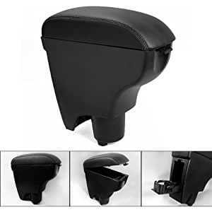 leather black console center armrest for toyota yaris 06 10 2006. Black Bedroom Furniture Sets. Home Design Ideas