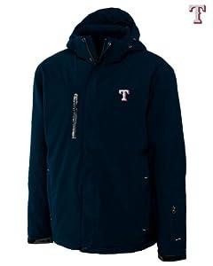 Texas Rangers Mens WeatherTec Sanders Jacket Navy Blue by Cutter & Buck