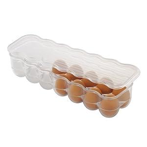 InterDesign Covered Egg Holder, 14 Eggs, Clear