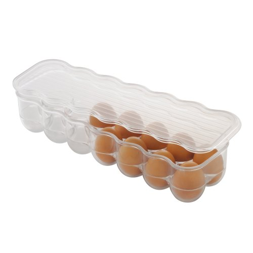 InterDesign Covered Egg Holder, 14 Eggs, Clear