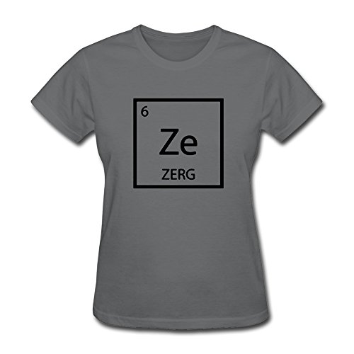 ZULA Women's Awesome T Shirt Starcraft 2 Legacy Of The Void Zerg Logo DeepHeather Size M