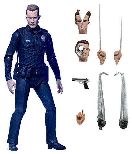 "NECA Ultimate T-1000 Terminator Action Figure, 2-7"""