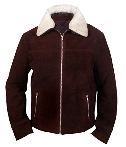 [F&H Men's The Walking Dead Rick Grimes Genuine Leather Suede Jacket XL Brown] (Daryl Dixon Costumes)