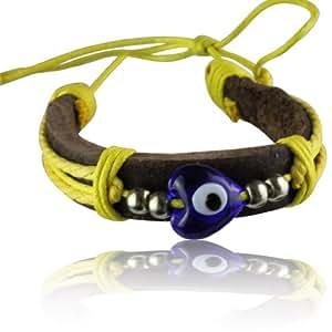 griechisches armband auge der fatima blaues auge mit gelber kordel und lederband extra. Black Bedroom Furniture Sets. Home Design Ideas