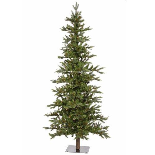 6 pre lit shawnee alpine style artificial christmas tree clear lights - Plastic Christmas Tree