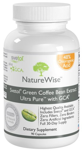SVETOL Green Coffee Bean Extract Ultra Pure with GCA GUARANTEED 48 Chlorogenic Acid The ONLY Product with 433mg of Clinically Proven Svetol AND Green Coffee Bean Extract GCA per Capsule The NatureWise Extract Proven in 8 Research Studies Full 30 Day Supply