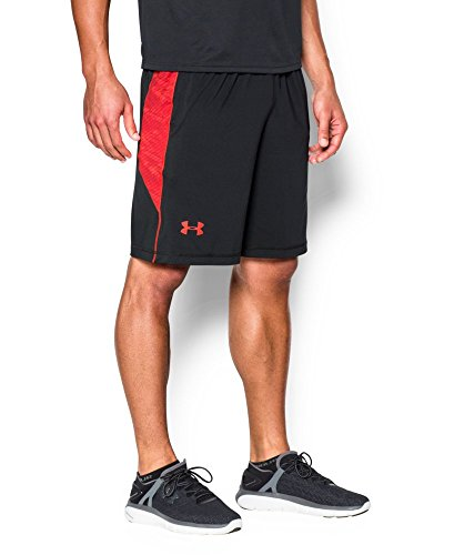 "Under Armour Men's Raid Printed 10"" Shorts, Black (010), XX-Large"