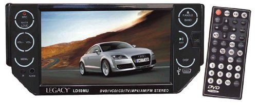 Legacy - 5.5'' TFT Motorized Touch Screen Monitor AM/FM Radio CD/VCD/MP3/DVD/USB/SD Reader W/Detachable Face