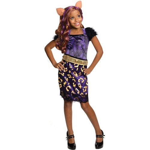 Monster High Halloween Costume Clawdeen Wolf Scaris Small (4-6)