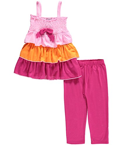"Angel Face Little Girls' ""Tricolor Tiers"" 2-Piece Outfit"