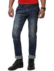 JCTex Men's blue silver arrow blue slim fit Jeans