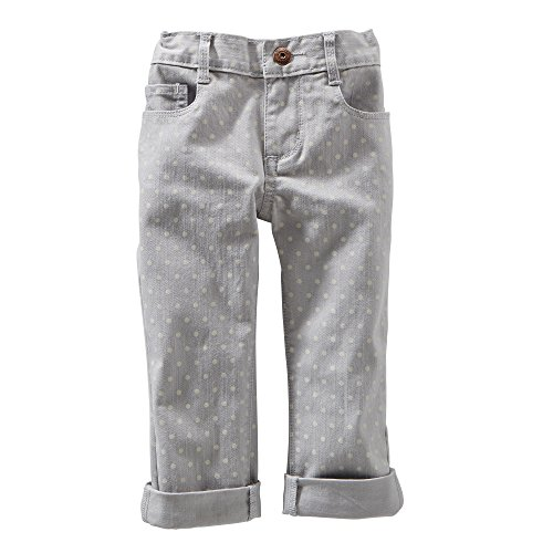 Oshkosh B'Gosh Grey Polka Dot Crop Skinny Twills (4T) front-12700