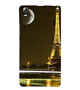 Vizagbeats Eiffel Tower Back Case Cover for Lenovo A7000