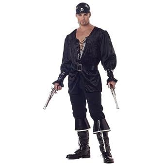 California Costumes Men's Blackheart The Pirate,Black,Medium Costume