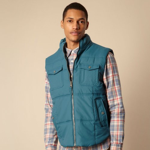 St George By Duffer Blue Padded Gilet