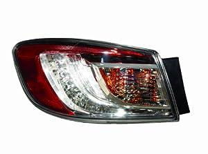 Tail Light Assembly for 2010-2012 Mazda 3 Sedan Left/Driver Side LED Type