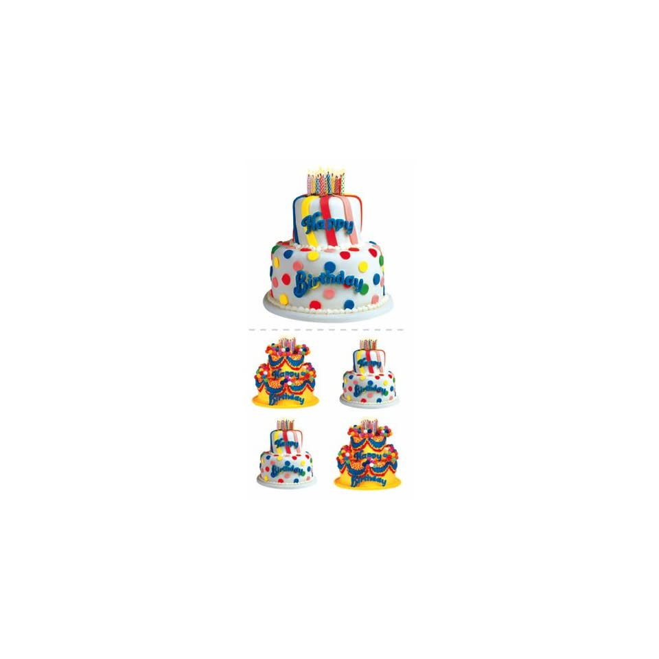 Birthday Cake Die Cut Photographic Stickers