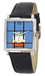 South Park Men's D1573S015 Manilla Collection Cartman Black Leather Watch