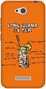 The Racoon Grip Orange Long Island Iced Tea hard plastic printed back case / cover for HTC Desire 616