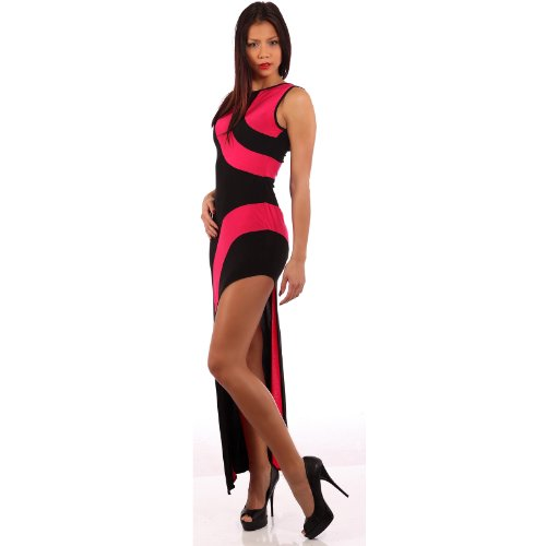 Young Fashion Gogo Maxikleid Miss Diva Gogo Maxidress Sexy Ausschnitt 34/36/38